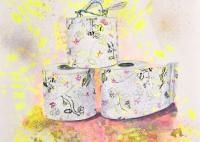 Libellen Liebe auf Toilettenpapier
